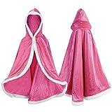 Labellevie Prinzessinnen-Umhang Prinzessinnen-Cape Prinzessin-Kostüm Umhang mit Kapuze für Kinder
