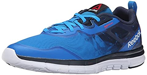 Reebok Men's Zquick Tempo Soul Running Shoe, Cycle Blue/Faux Indigo/White/Neon