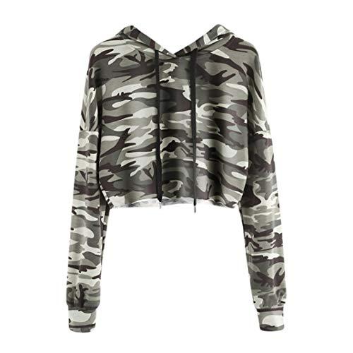 Kapuzenpullover Damen Julywe Damen Hoodie Camouflage Bedruckte Sweatshirt Langen Ärmel Pullover Tops Bluse