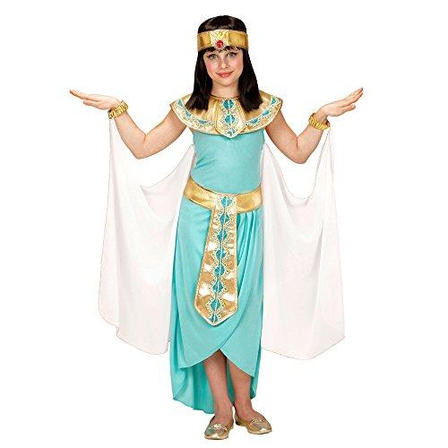 """erkostüm Ä""""gyptische Königin, Kleid, Gürtel, Armbänder, Stirnband, Umhang, türkis, Größe 158 (Cleopatra Kleider)"""