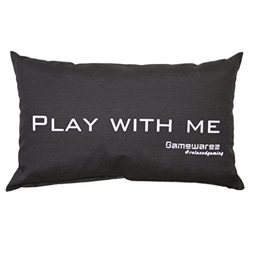 Gamewarez 'Cuscino Play With Me. Per Soggiorno E Camera Da Letto (Grigio 30 x 50 cm) Cuscino di viaggio/Travel Pillow Made in Germania