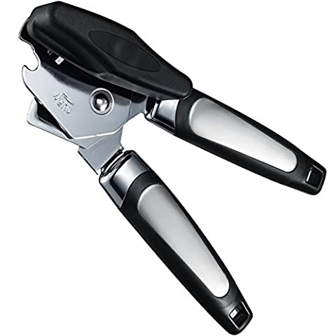 3-in-1 Manual Can Opener, TopElek Stainless-Steel Tin Opener with Bottle Cap Opener and Can Opener in One, with Non-slip Tin Opener Handle Smooth Edge and Hanging Holes, Best for Can Opening
