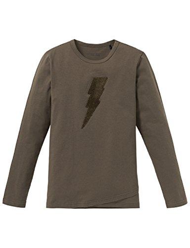 Schiesser Jungen Schlafanzugoberteil Mix & Relax Shirt 1/1, Grün (Oliv 707), 164 (Herstellergröße: M)