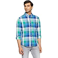 TOMMY HILFIGER Men's Casual Shirt (8907504565078_S7BMW105_Large_Alhambra-Pt)