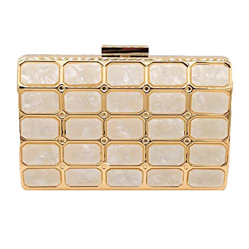 Square Marmor (Xuanbao-EB Abendtasche Clutch Box Handtasche Acryl Handtasche Querschnitt Square Dinner Bag Marmor Stitching Clutch Bag Chain Bag Handtasche Party Braut Prom (Farbe : Light Yellow))