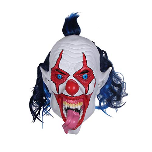 JGBHPNYX Clown Latex Maske Spukhaus Flucht Requisiten Halloween Party Kopfbedeckung