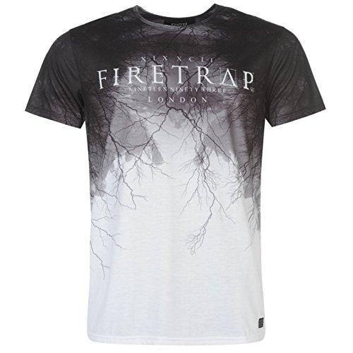 Firetrap Mens Sublimated T Shirt Crew Neck Tee Top Short Sleeve Lightweight