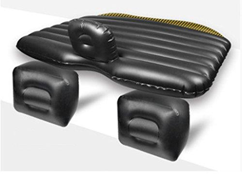 Camping Reise Sex Bett Auto Bett Aufblasbare Universal Rücksitz Kissen Premium Queen Size Doppel Luft Betten TPC Leder 136 * 80 * 45 Cm ( Farbe : Schwarz ) (Queen Schwarze Leder-bett)