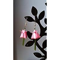 Orecchini origami tulip - tulipani di carta- primavera