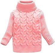 Lefu Unisex Niños Knit Jumper Jersey de Cuello Alto para Navidad