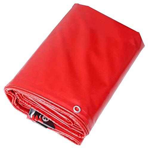 SWJ-Sunshading Nets Bâches De Protection Anti Déchirure/Tirant Double Face étanche Housse Anti-humiditéParasol Isolé-470g / M2,Épaisseur 0.45mm,Rouge,11 Taille,Red-4x5m