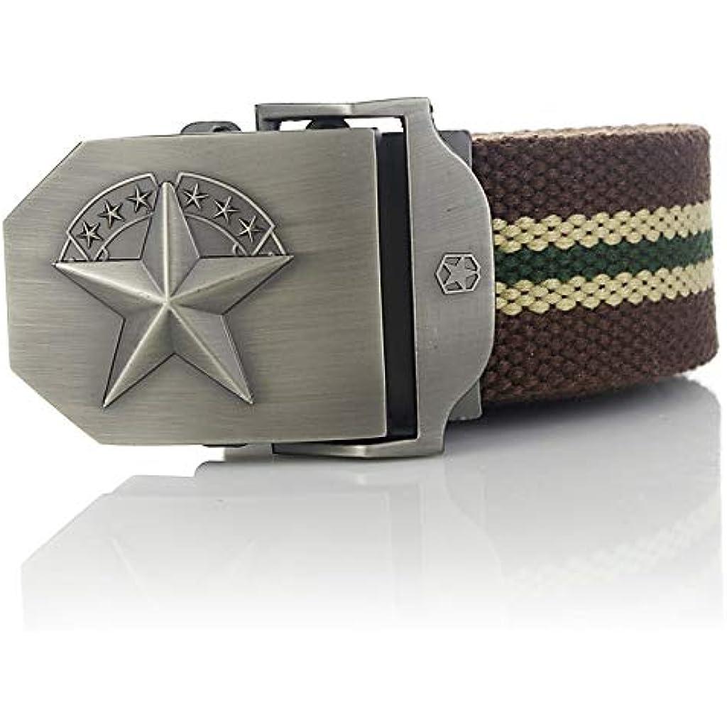 Ballylelly Correas de Lona Militares Masculinas Hombres Cintur/ón de Cintura c/ómodo Hebilla de Metal Gran Regalo