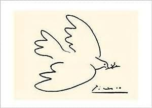 Pablo Picasso – Colombe de la Paix ( sérigraphie ) Impression d'art Print (69,85 x 50,17 cm)