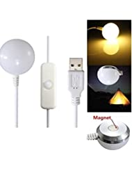 Calli Usb LED lumière de camping lumière douce tente extérieure lampe ampoule fond magnétique