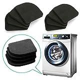 QISF EVA-Antivibrationsmatte für Waschmaschine, Kühlschrank, Trockner, Laufband, Tisch, Stühle, 8 Stück