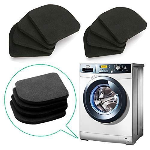 QISF 8 Stück EVA-Antivibrationsmatte für Waschmaschine, Kühlschrank, Trockner, Laufband, Tisch, Stühle (Laufband-pad)