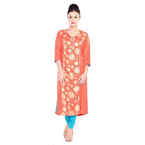 Reliance Fashion 3/4 Sleeve western cotton Stylish,fashionable, designer, ocassion ,festival,party wear,casual latest kurti and plazzo for women, lady, girl and teen