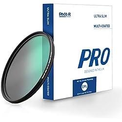 Phot-R 67mm Pro 16L CPL Filtre Numérique 16-Couches Multi Enduit Polarisant Circulaire Ultra Mince Filtre Polarisé Anti-Poussière Anti-Rayures Imperméable pour Canon Nikon Tous DSLR Filtre de caméra