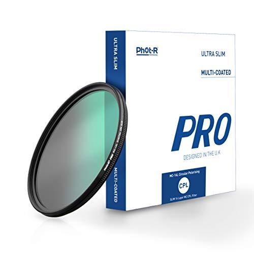 Phot-R 62mm PRO 16-Schichtenmehrfach vergüteter Polarisationsfilter Ultra Slim Multi-Coated einschrauben Polarized Anti-Scratch Anti-Dust Wasserabweisender DSLR Kamerafilter