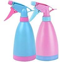 Rocita Spray Botella riego Puede Olla plástico gatillo Mano-presión Spray atomizador nebulizador pulverizador Recargable espolvorear contenedor para jardín Plantas de Interior Flores (Azul + Rosa)