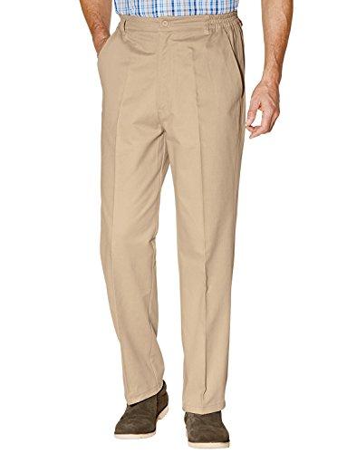 Homme Coton Revêtement Téflon Pantalon Beige