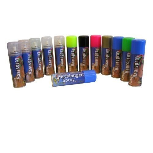 maskworld Color Hairspray - farbiges Haarspray bunt Colorspray (Blau) (Blaues Haarspray)