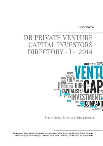 Buchcover: DB Private Venture Capital Investors Directory  I - 2014: Smart Money für smarte Unternehmer