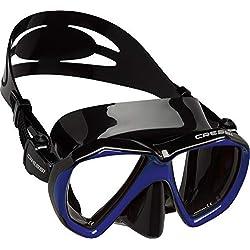 Cressi Ranger Mask Masque plongée Mixte Adulte Unisexe, Noir/Bleu, Unique