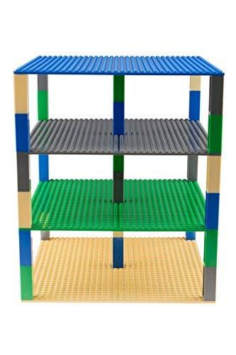 Stapelbare Premium-Bauplatten - kompatibel mit allen großen Marken - geeignet für Turm-Konstruktionen - je 10