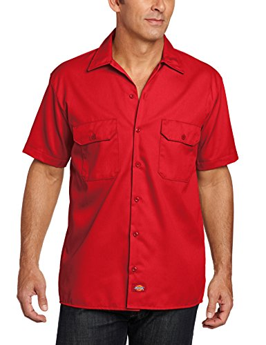 Dickies Herren Regular Fit Freizeit Hemd Shrt/S Work Shirt, Kurzarm, Rot (English Red ER), Gr. X-Large (Herstellergröße: XL)