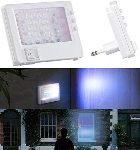 VisorTech Fernsehsimulator: Steckdosen-TV-Simulator zur Einbrecher-Abschreckung, 32 LEDs, 2,6 Watt (Einbruchschutz)