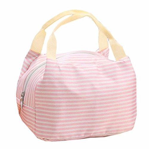 Zolimx Tragbare Lunch Bag Tote Picknick Isolierte Kühler Reißverschluss Veranstalter Brotdose (Rosa) (Bag Hobo Unterschrift Handtasche)