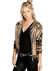 ♥ Loveso ♥ -Damen Outwear Mode Frauen Polyester beiläufiger Jacken Reißverschluss Weinlese Blazer Mantel Outwear