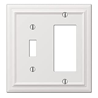 Amerelle 94TRW Continental White Cast 1 Toggle 1 Rocker Wallplate