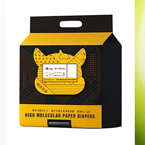 GYJ Haustier Windeln Weiblicher Hund Welpen Hygiene Windel Hose für Hunde Einweg Super saugfähig und weich, Heizung Pee Liner liefert,XXS -