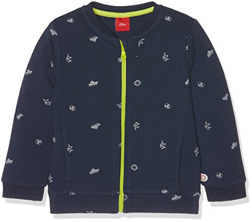 s.Oliver Baby-Mädchen Sweatshirt 65.802.43.5013, Blau (Glockenblume AOP 58B4), 80
