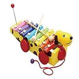 Homyl Glockenspiel Xylophon für Kinder - Gelber Hund