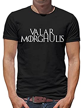 TLM Valar Morghulis Camiseta para hombre T-Shirt L Negro