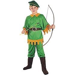 FIORI PAOLO Arquero del Bosque disfraz niño L (7-9 anni) Verde