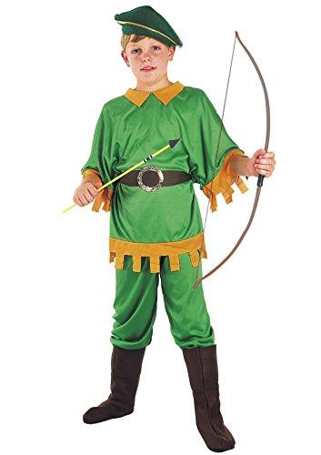 Fiori Paolo - Arciere del Bosco Costume Bambino Boys, Verde, M (5-7 anni), 61147.M