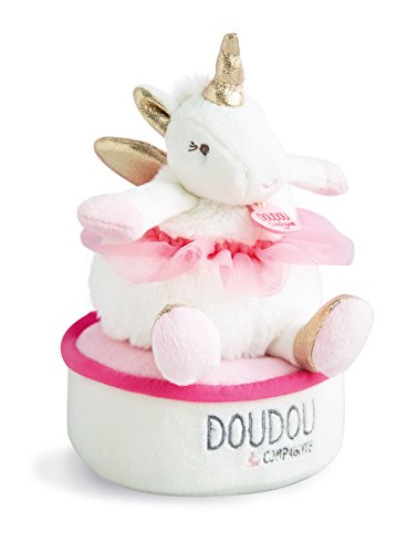 Doudou et Compagnie DC3316 LICORNE - TOURNICOTI Spieluhr, rosa