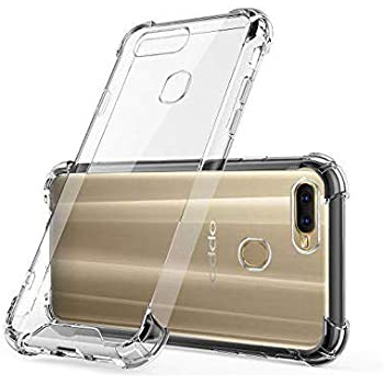 Johra® Protective Soft Transparent Shockproof Hybrid Protection Back Case Cover for Oppo A7