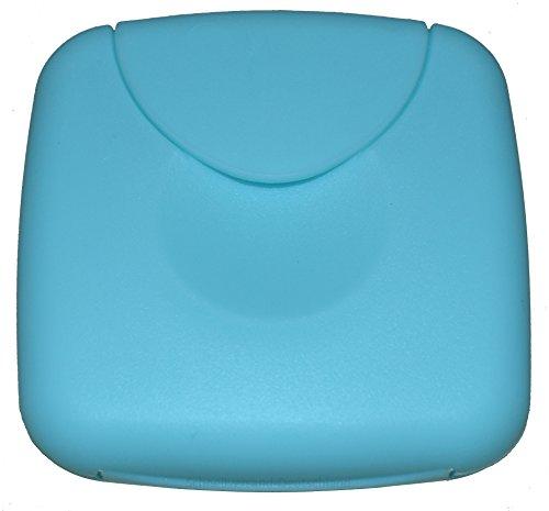 Tampon Aufbewahrung / Tampon Box / Dose für Tampons, Kondome oder Pflaster - Binden und Slipeinlagen (Hellblau)