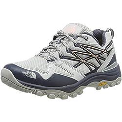 The North Face W Hedgehg Fp GTX(EU), Zapatillas de Senderismo para Mujer, Gris (Meld Grey/Pink Salt C6s), 42