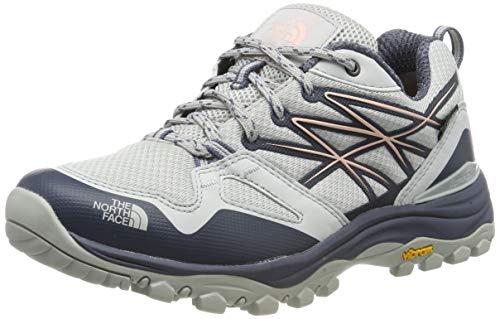The North Face W Hedgehg Fp GTX(EU), Zapatillas de Senderismo para Mujer, Gris (Meld Grey/Pink Salt C6s), 36
