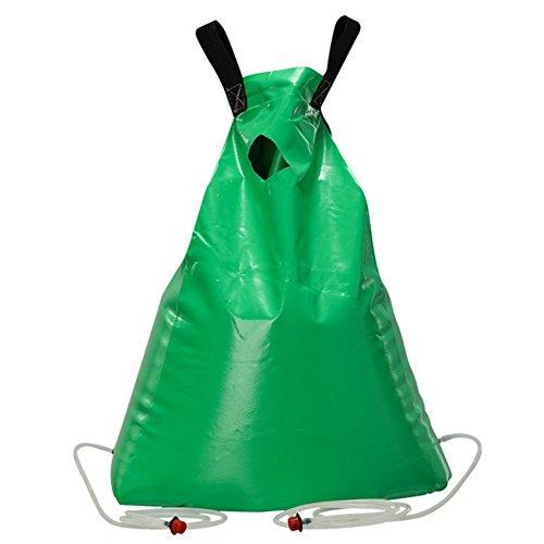 Bolsa de agua del árbol, sistema de goteo automático del goteo de la planta de liberación lenta del PVC perfecto para plantar árboles y arbustos, verde (35L)