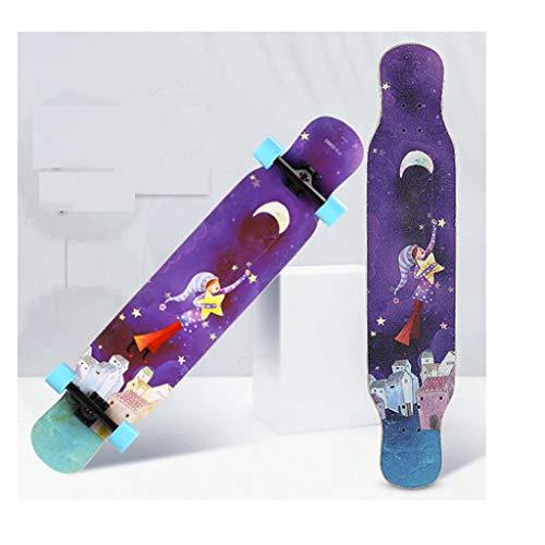 YXLZZO Longboard-Skateboard-Allround-Brush Street-Jungs und Mädchen für Anfänger mit Vier Rädern (Farbe : A)