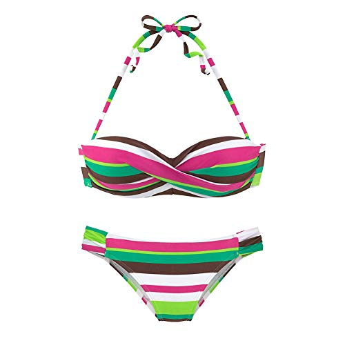 Fashion Sexy Bikini Gradient Striped Tube Top Zweiteiliger Split-Badeanzug B Cut-out Tube-kleid