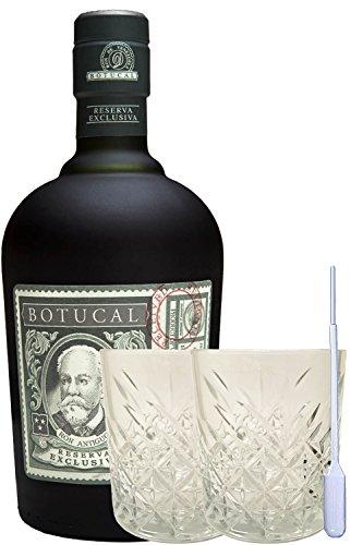 Diplomatico Botucal 12 Jahre ohne Tube Venezuela 0,7 Liter + 2 Rum Gläser und Einwegpipette