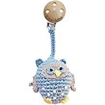 sindibaba 12080Clip de cochecito de crochet de 17cm con diseño de búho